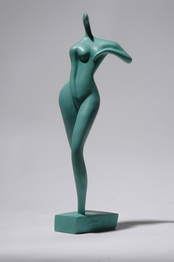 Standing Girl - an erotic sculpture by Zhang Yaxi realized as a small ...