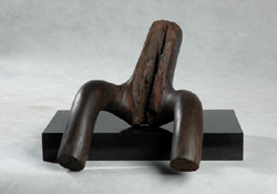 "Click here for a larger view and details of ""Female Form II"" an erotic original wood sculpture sculpture by contemporary Chinese sculptor Zhang Yaxi"