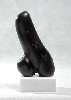 "Click here for a larger view and details of ""Female Form III"" an original wood sculpture by contemporary Chinese sculptor Zhang Yaxi"